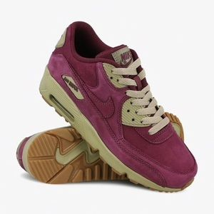 Nike Air Max 90 Winter PRM Bordeaux Bamboo Suede NWT